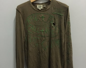 Authentic Juicy Couture Distressed Longsleeve Punk Rock T Shirt