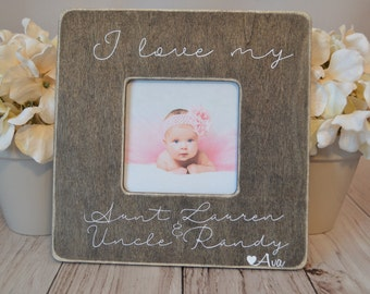 aunt and uncle picture frame custom picture frame i love my aunt and uncle picture frame aunt and uncle gift personalized picture frame