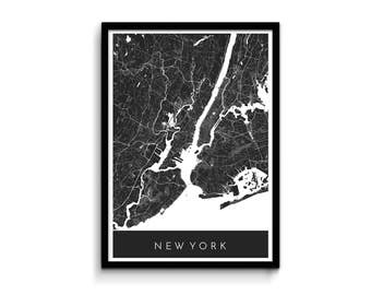New York map - Modern, detailed and original - Professional printing and fast FREE shipping