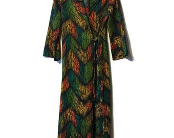 Vintage Robe - Vintage Dress - Funky Robe - Bold Pattern - Aline Robe
