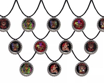 12x FNAF Five Nights at Freddy's Party Favor Necklaces