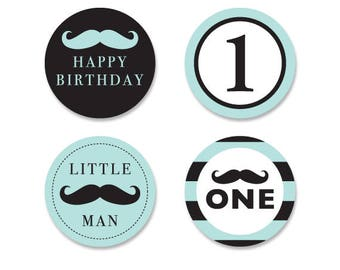 little man cupcake toppers,mustache cupcake toppers,printable little man cupcake toppers,little man birthday,turquoise mustache birthday