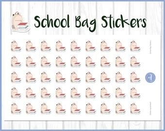 School Stickers | Schoolbag Stickers | Planner Stickers | Journal Stickers | Diary Stickers - Erin Condren, Happy Planner, Kikki K, Filofax
