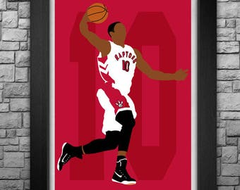 DeMAR DeROZAN minimalism style limited edition art print. Choose from 3 sizes!