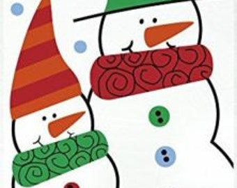 Pack of 20 SNOWMAN BUDDIES Christmas Cellophane Bags - Perfect for Homemade Christmas Gifts