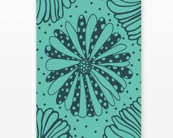 Polka Dot Floral Card Set | 5 Blank Cards