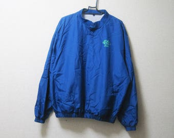 VINTAGE JTCUP Japan Golf Nippon Series Blue Windbreaker Jacket Sports - Size M