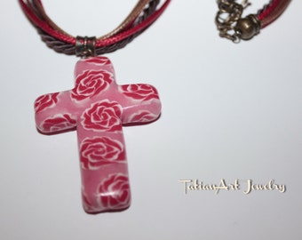 Cross rose, rose on tails, tails handwork.