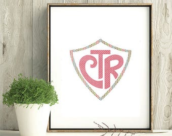 CTR, Choose The Right, baptism lds, stamped ctr, LDS Home Decor, Instant Download, Digital Printable, Home Decor Print, girl gift