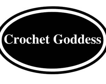 Knitting Crochet Fiber Decal  Crochet Goddess