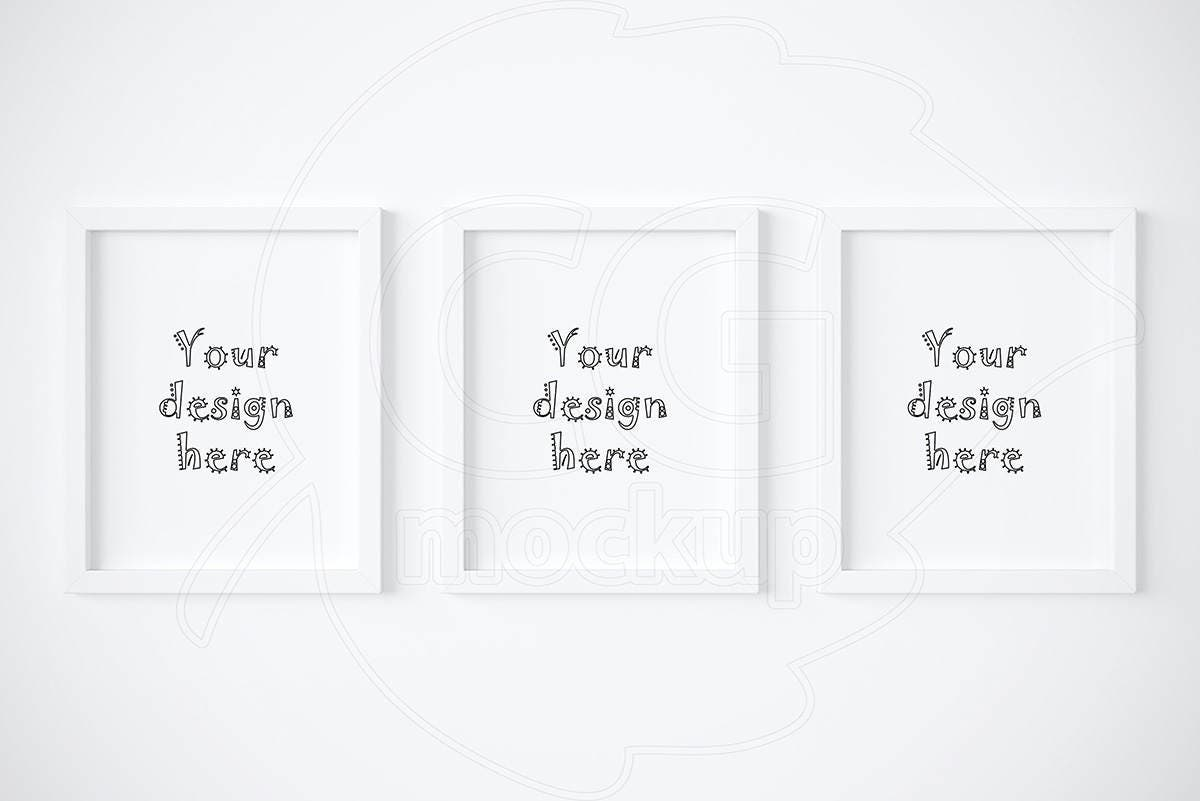 8x10 white frame mockup mockups set of 3 frame digital product mock up artprint mock up styled stock wall art mock ups top sellers