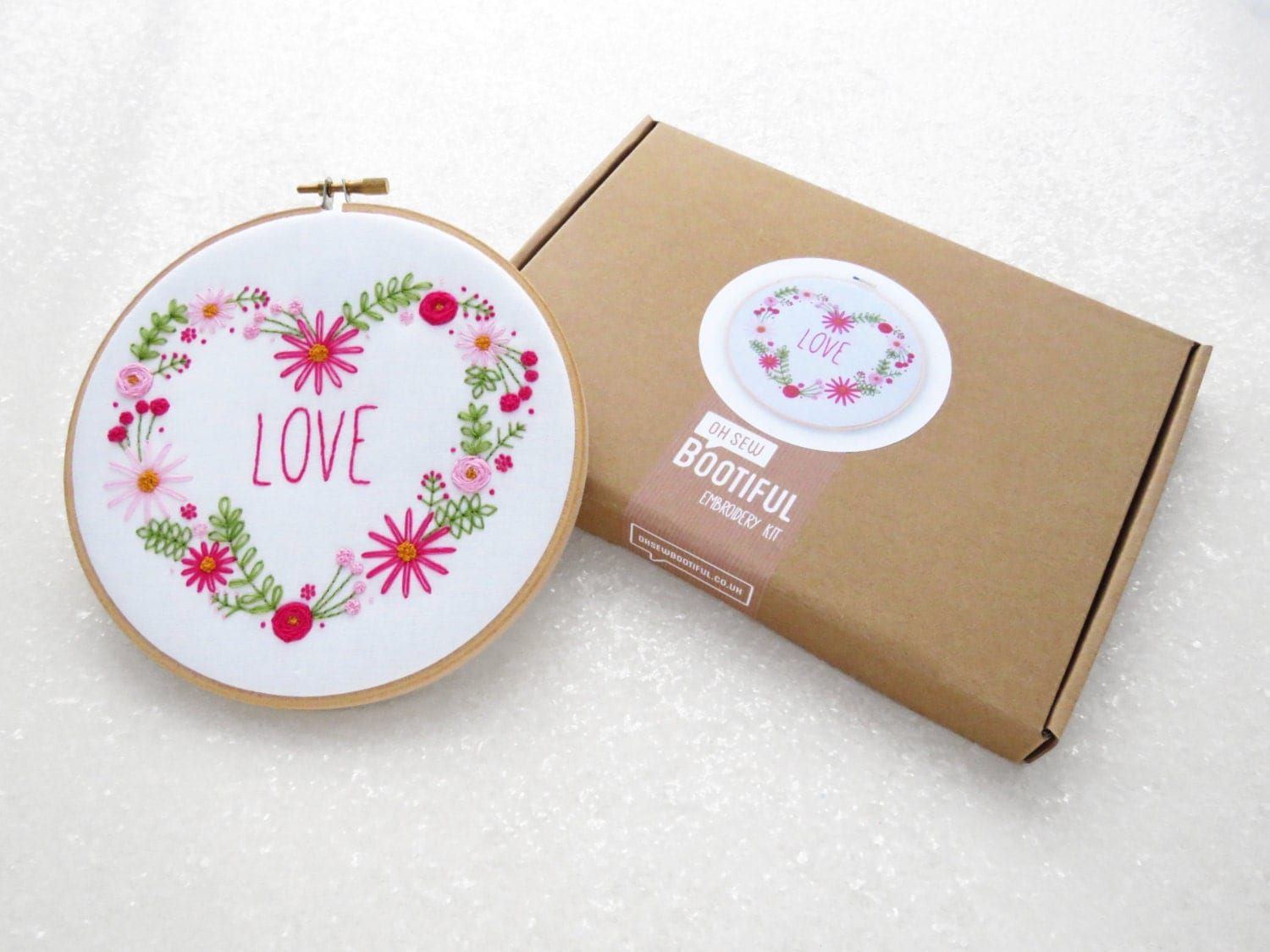 Embroidery kit flower hand set diy gift for her