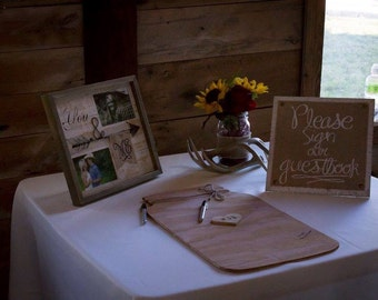 Mason Jar Wedding Guestbook