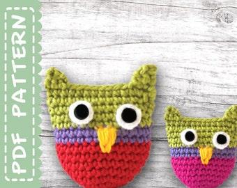 CROCHET Pattern, Little Owl Amigurumi, Owls Patterns, Crochet Bird Amigurumi, Crochet Toy Pattern, Amigurumi PDF, PDF Patterns