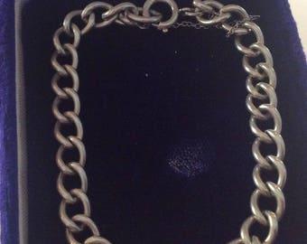 Sterling silver charm or cuff bracelet vintage # 1172