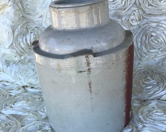 Vintage Clay Stoneware Crock Jug