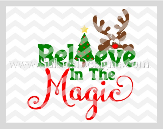 Believe In The Magic Svg Dxf Png Files For Cricut And