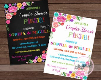 Fiesta couples shower invitation Etsy