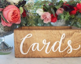 Rustic Cards Box Holder