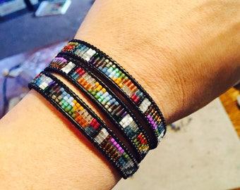 Laurelhurst Triple Wrap Leather Bracelet