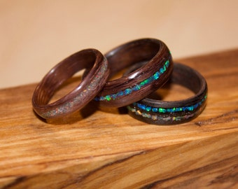 Bent Wood Rings (Inlay Optional)