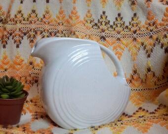 Fiestaware Vintage WHITE Large Disc Pitcher Fiesta Water Pitcher