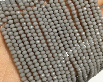 1Full Strand Crystal Rondelle Beads,3mm*2.5mm Faceted Crystal Glass Beads For Jewelry Making