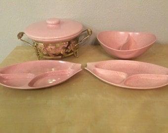 MidCentury Atomic Vernonware serving set dishes 1950s
