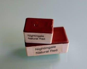 Watercolor paint handmade HALF and WHOLE pan Nightingale Natural Red  nontoxic