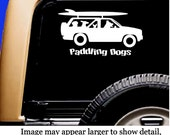 Wagon Weekend!  Dog Vinyl SUP Car Sticker Decal Original Design by Paddling Dogs