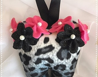 Leopard Print Flower Tooth Fairy Pillow