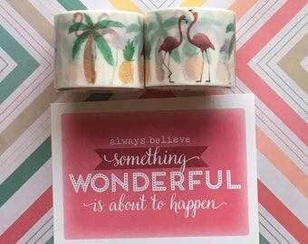 Tropical/Flamingo Washi Tape