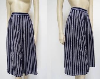Vintage Skirt, 1990s, Nautical Skirt, Boho Skirt, Hippie, Festival, Ladies Clothing, Skirt, Midi Skirt, Wedding Outfit