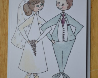 Card for Husband or Wife,  Wedding, Anniversary, Valentine's Day, Blank Inside Card, Married Couple Greetings Card, foreverNess