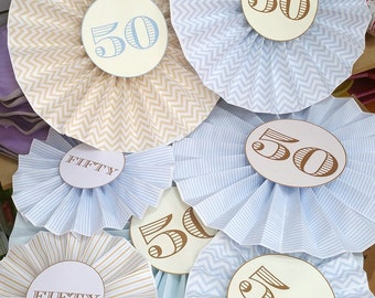 vintage decorations 50 kit consisting of various patterns and sizes 7 paper pinwheels + 2 a3 size coordinates prints