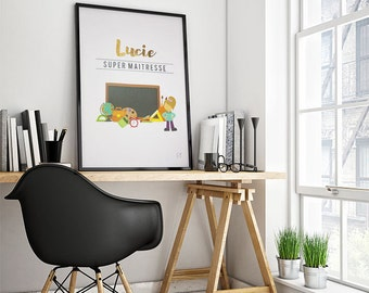 Poster trades: Mistress/master - customizable - gilding - color-decoration - child - room