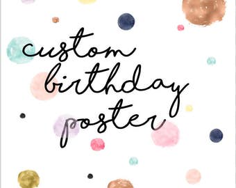 Custom Birthday Poster