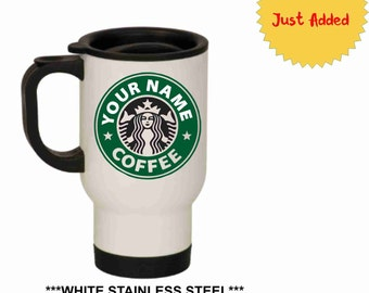 Personalized Starbucks Travel Mug, Starbucks Coffee, Starbucks Travel mug, Starbucks Cup, Starbucks, Custom Starbucks Mug, 14 oz. Travel mug