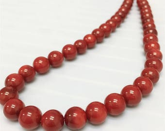 10mm Red Coral Beads, Gemstone Beads, Wholesale Beads