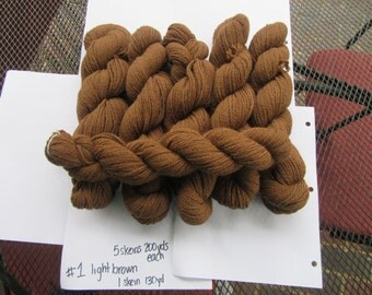 3 ply Worsted weight  Brown 100% Alpaca Yarn