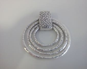 Silver circles pendant for necklaces,for 3,4 and 5mm size.