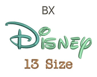 Disney Embroidery Font - 13 Size Monogram Fonts BX Files Format Machine Embroidery Fonts Design Bx Fonts - Instant Download