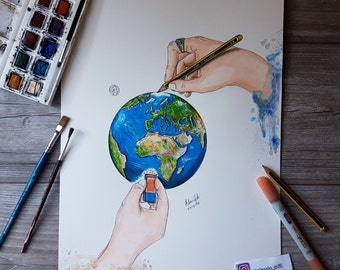 Draw a better world - Print of my drawing