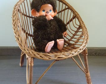Small doll Chair shaped basket, 1960s vintage