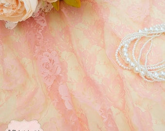 Pale Pink Lace Fabric Pink Blush Roses Lace For Handmade Floral Lace Wedding Pink Lace Bridesmaid Lace Pink Lace For Making Dress