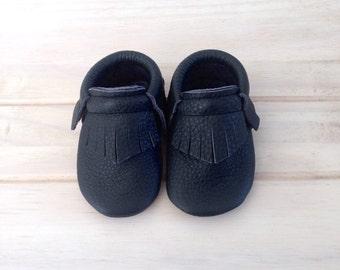 Mimi mocassins | Black matt leather