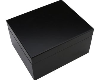 Wooden Black Removable Compartment Box - Storage Box, Keepsake Box, Stash Box
