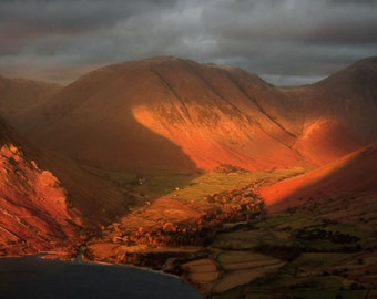 Wasdale Head from Illgill Head -- Landscape Photography by M J Turner