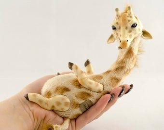 Giraffe Handmade Pet Doll Toy Animal Art