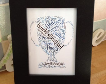 A4 Personalised Word Dad Trophy Print (UK ONLY)/Download